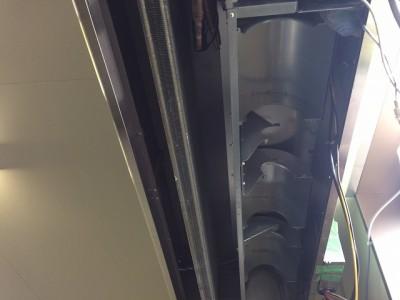 天井吊るし型エアコンクリーニング施工後/周南市