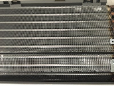 熱交換器の高圧洗浄後になります。