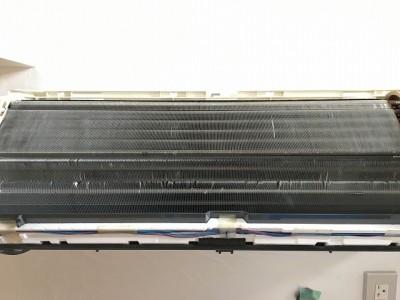 三菱製お掃除機能付きエアコンクリーニング後になります。